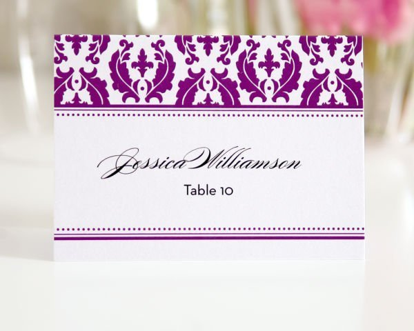 Classic Damask Place Cards – Style A