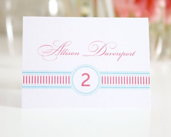 French Stripes Place Cards