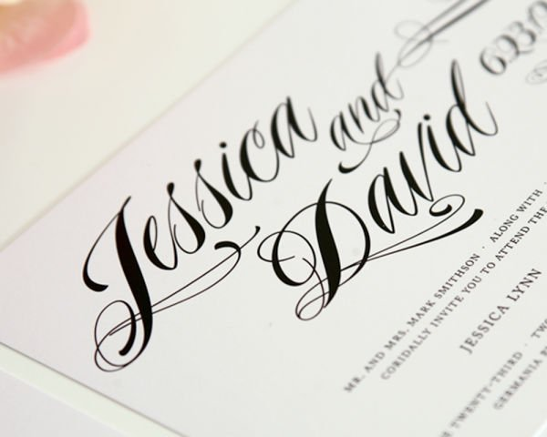 Ravishing Script Wedding Invitations