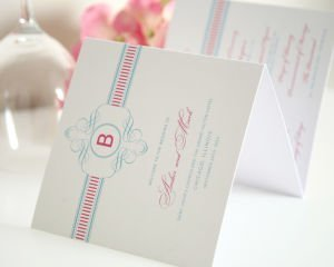 French Stripes Wedding Programs