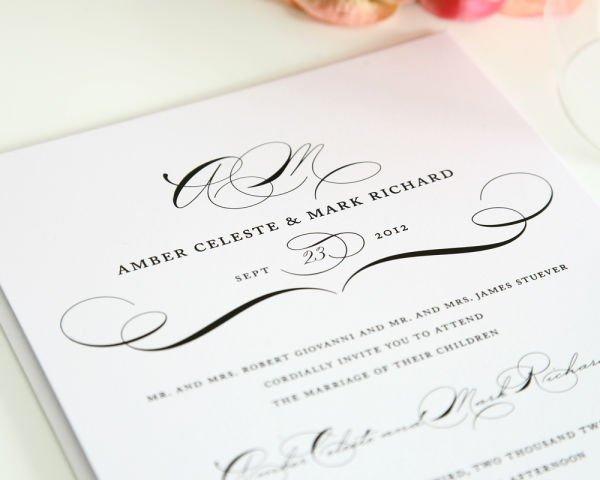 Vintage Class Wedding Invitations