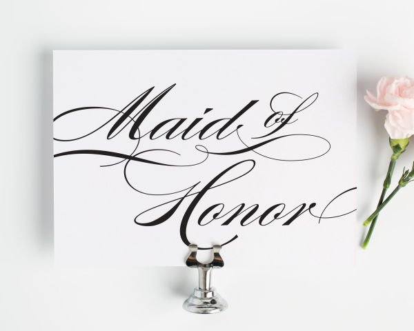Maid of Honor Sign