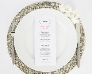 Addition of Love Script Wedding Menus