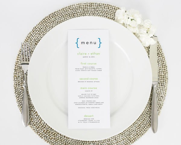 Addition of Love Wedding Menus