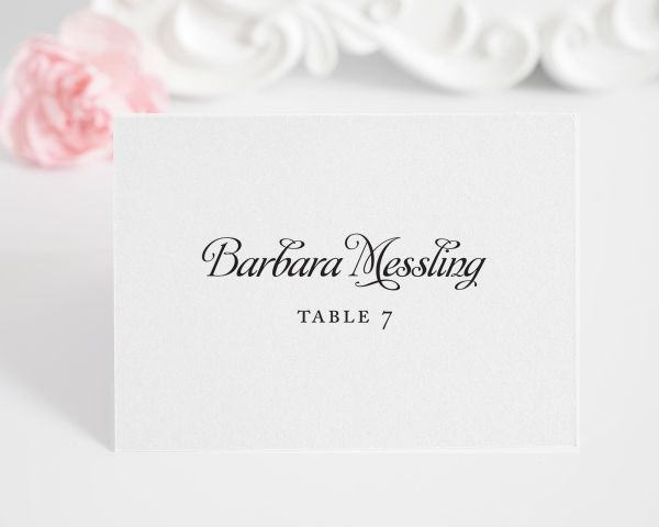 Alluring Script Place Cards