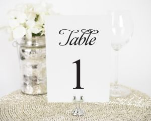 Alluring Script Table Numbers