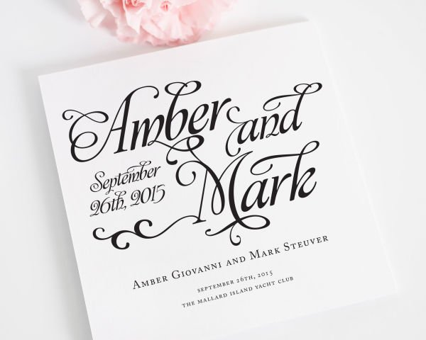 Alluring Script Wedding Ceremony Programs