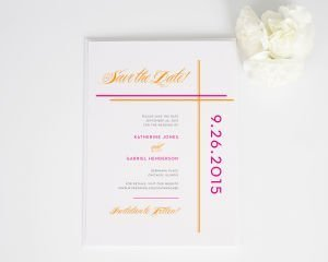 Avant Garde Stripes Save the Date Cards