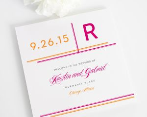 Avant Garde Wedding Ceremony Programs