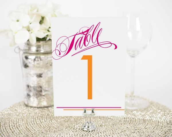 Avant Garde Stripes Table Numbers