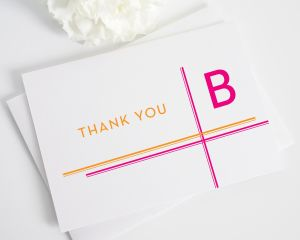 Avant Garde Stripes Thank You Cards