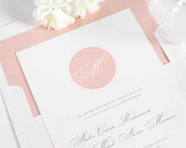 Circle Monogram Wedding Invitations
