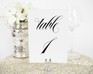 Calligraphy Names Table Numbers