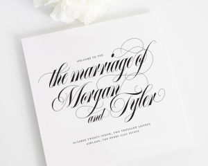 Calligraphy Names Wedding Programs