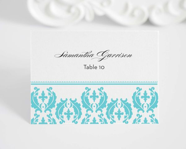 Cascading Damask Place Cards