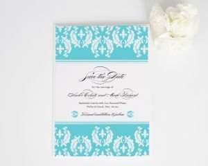 Cascading Damask Save the Date Cards