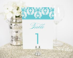 Cascading Damask Table Numbers