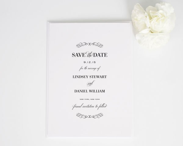Chic Elegance Save the Date Cards