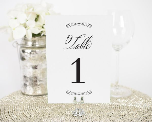 Chic Elegance Table Numbers