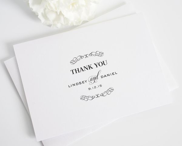 Chic Elegance Thank You Cards