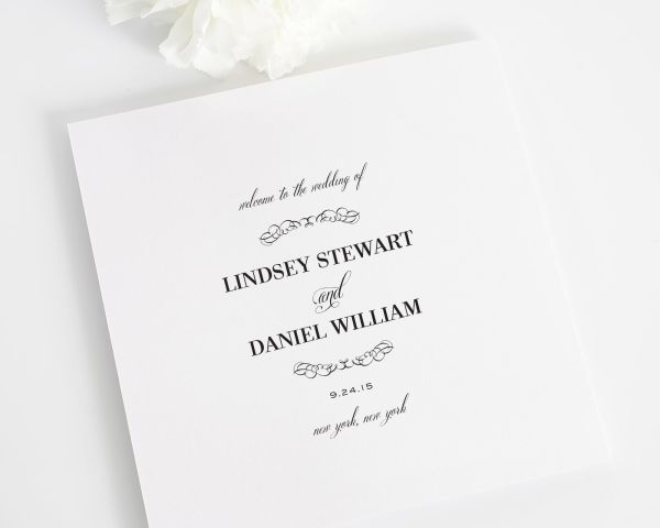 Chic Elegance Wedding Programs