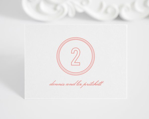 Chic Monogram Place Cards