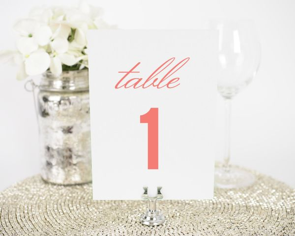 Chic Monogram Table Numbers