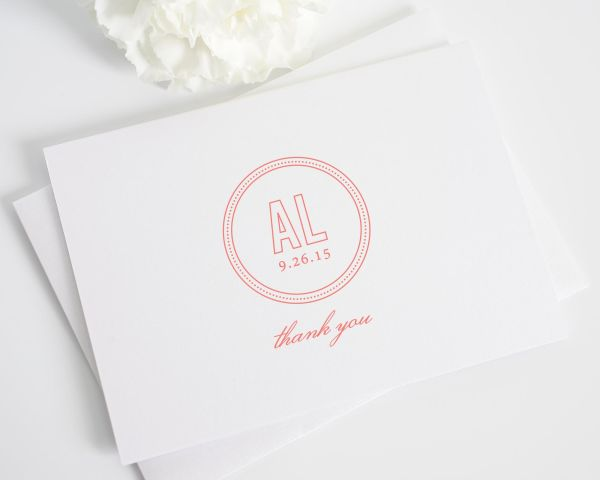 Chic Monogram Thank You Cards