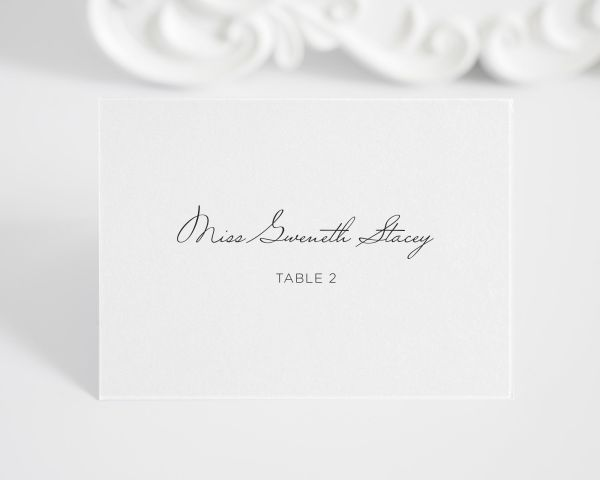 Circle Couple Place Cards
