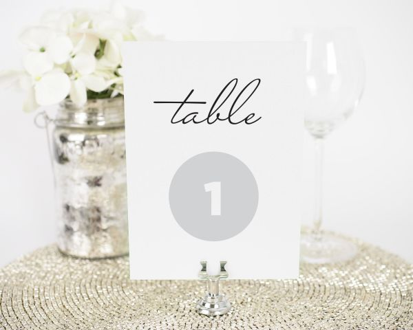 Circle Couple Table Numbers