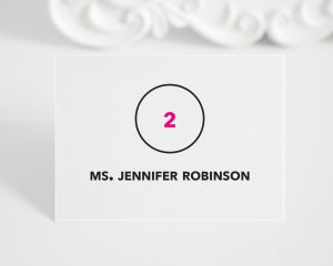 Circle Logo Place Cards