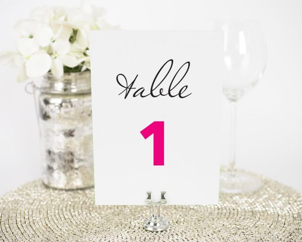 Circle Logo Table Numbers