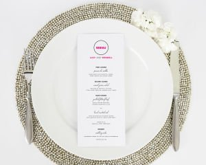 Circle Logo Dinner Menus