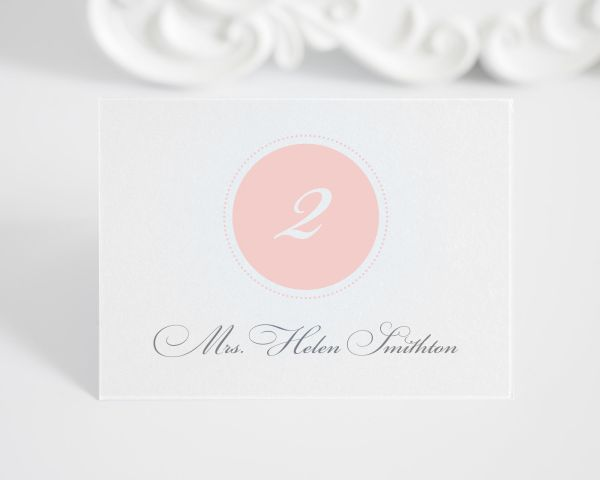 Circle Monogram Place Cards