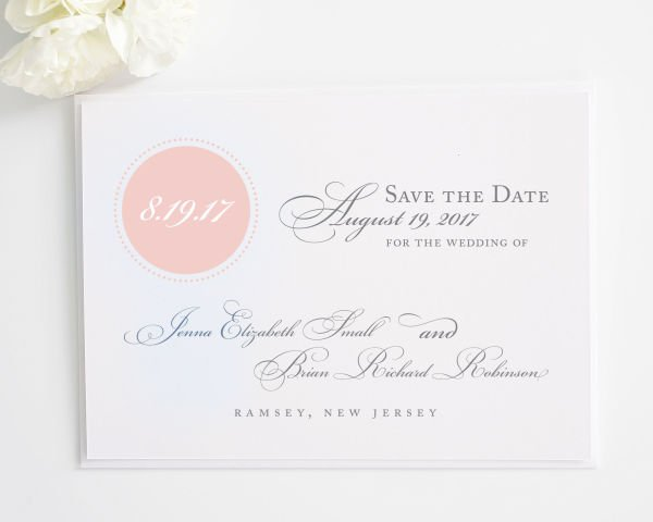 Circle Monogram Save the Date Cards