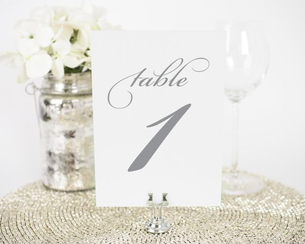 Circle Monogram Table Numbers