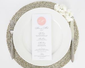 Circle Monogram Wedding Menus