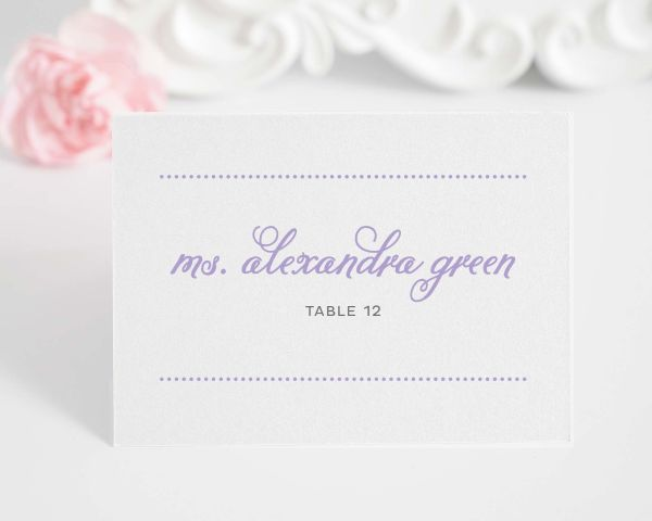 Classic Whimsy Place Cards