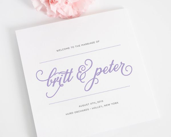 Classic Whimsy Wedding Programs