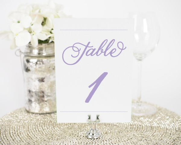 Classic Whimsy Table Numbers