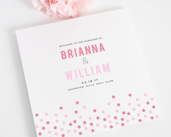 Confetti Wedding Programs