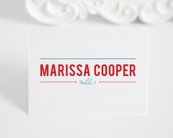 Contemporary Stack Place Cards