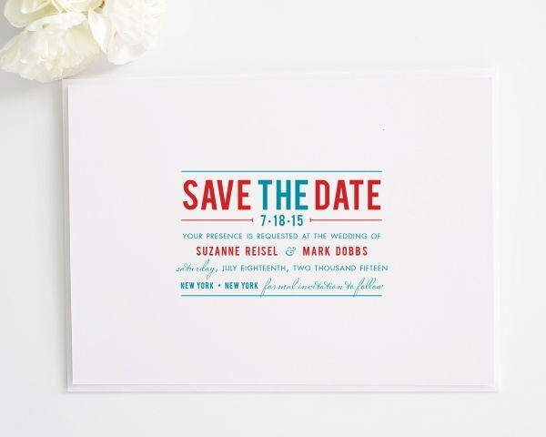 Contemporary Save the Date Cards