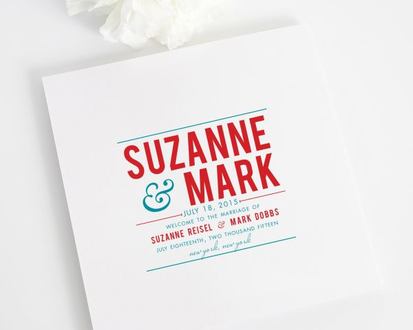 Contemporary Stack Wedding Programs