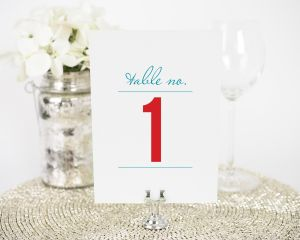Contemporary Stack Table Numbers
