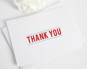 Contemporary Stack Thank You Cards