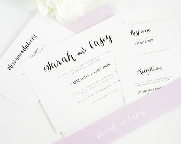 Stylish Script Wedding Invitations