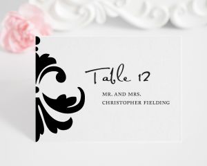 Damask Accent Place Cards