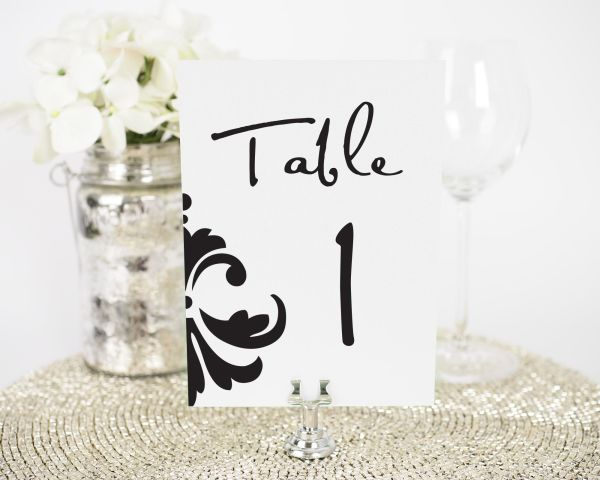 Damask Accent Table Numbers