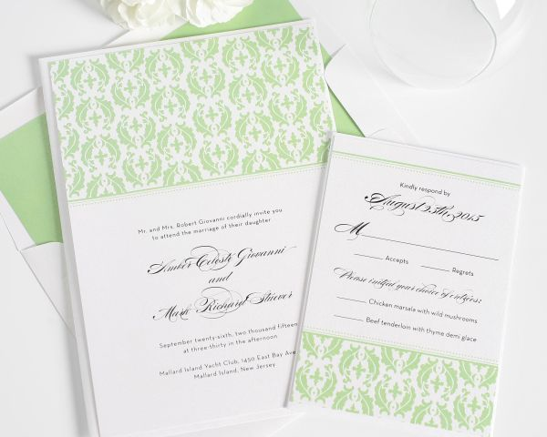 Classic Damask Wedding Invitations